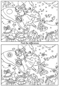Can you spot the differences between these two Valentines Day pictures of a pretty Valentine fairy? Valentines Day Pictures, Valentines Day Activities, Fun Activities For Kids, Valentine Day Crafts, Classroom Activities, Valentine Banner, Super Coloring Pages, Colouring Pages, Find The Difference Pictures