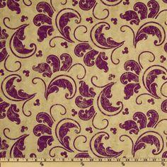 French Twist Large Scoll Cream/Purple