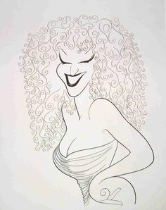 Al Hirschfeld ~ Bette Midler in Clams on the Half Shell Revue Caricature Artist, Caricature Drawing, Drawing Tutorials For Beginners, Bette Midler, Pop Art, Celebrity Caricatures, Black And White Portraits, Comic Artist, Drawing People