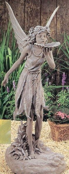 "garden decorations and statues | 35""H Fairy Statue 