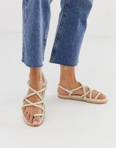 Browse online for the newest ASOS DESIGN Foxx premium chunky rope sandals styles. Shop easier with ASOS' multiple payments and return options (Ts&Cs apply). Latest Fashion Clothes, Fashion Online, Safari, Rope Sandals, Asos Online Shopping, Real Leather, Shoe Boots, Espadrilles, Women Wear
