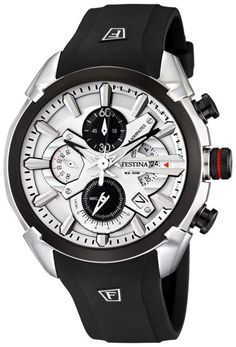 Festina Men's Watch with White Dial. I like it when a man wears a nice watch