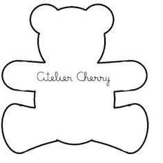 cute and simple Applique Templates, Applique Patterns, Bear Template, Felt Crafts, Diy And Crafts, Sewing Crafts, Sewing Projects, Baby Shawer, Felt Patterns