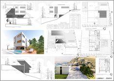 Casas en pendiente: 17 ejemplos de cómo adaptarse a un terreno inclinado - AboutHaus Floor Plans, Behance, How To Plan, Minimalist Home, Log Cabin Houses, Home Plans, House, Floor Plan Drawing, House Floor Plans