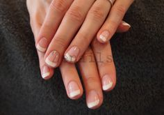 Classical french manicure