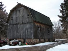 I was at this farm to buy firewood. I had to take a picture of this fine old barn.