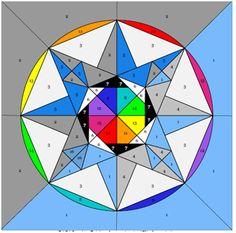 Rainbow Sapphire – Block Four of the Rainbow Round the Year BOM Quilt   betukbandi