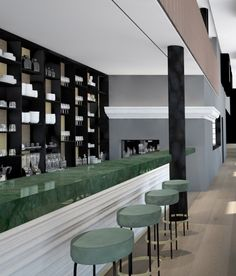 The Serras - Barcelona - beautiful emerald bar