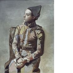 Seated Harlequin by Pablo Picasso