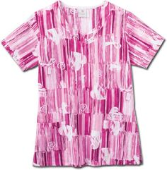 Inspire Pink Hearts Cancer Awareness Uniform Top by White Swan #hearts #uniforms