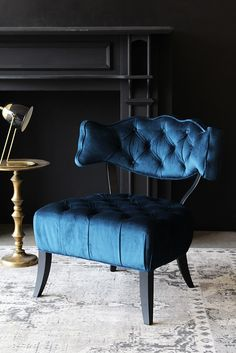 Cloud Velvet Chair – Midnight Blue Cloud Velvet Chair – Midnight from Rockett St George This image has get