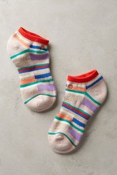 Stance Mixed Stripe Ankle Socks #anthrofave #anthropologie