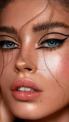 Edgy Makeup, Makeup Eye Looks, Eyeliner Looks, Eye Makeup Art, Skin Makeup, Eyeshadow Makeup, Eyeshadow Ideas, Makeup Set, Eyeshadow Tutorials