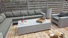 tuinkussens Outdoor Sectional, Sectional Sofa, Outdoor Furniture Plans, Outdoor Spaces, Outdoor Decor, Lounges, Landscape, Home Decor, Decks