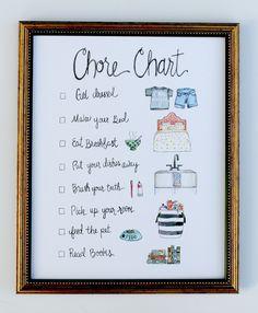 Chore Chart Art Print