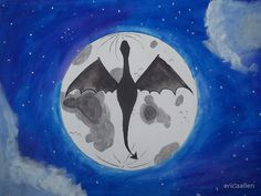 acrylic  dragon  silhouette  painting Dragon Silhouette 59b8579ccfc