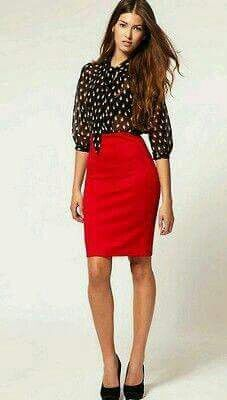 Outfit negro - rojo