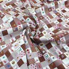 Direct selling !  4 Pieces/lot  72x50cm Assorted Four colorsSeries Cotton Grid sewing Fabric Diy Cloth for Patchwork Tilda