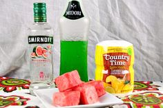 Watermelon vodka lemonade is a fresh and easy summer cocktail. Blend two watermelon flavored alcohols with lemonade and add fresh melon. Vodka Lemonade, Lemonade Cocktail, Rum Punch Recipes, Cocktail Recipes, Drink Recipes, Midori Cocktails, Flavored Alcohol, Malibu Rum Drinks, Easy Summer Cocktails