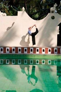 Yoga instructor Amanda Wentworth