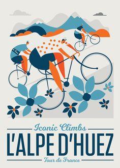 L'Alpe D'huez / Classic Climbs – Sport is lifre Nature Prints, Bird Prints, Alpe D Huez, Bicycle Print, Bmx Bicycle, Bicycle Design, Velo Vintage, Vintage Bicycles, Viajes