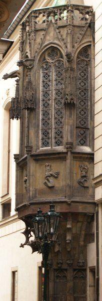 Oriel of the Carolinum (Charles University), Prague.