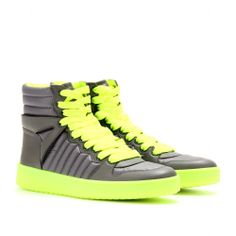 mytheresa.com - Gucci - HIGH-TOP LEATHER SNEAKERS - Luxury Fashion for Women / Designer clothing, shoes, bags