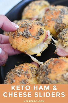 Your entire family will love these delicious keto ham & cheese sliders. Make some for lunch or dinner! Your entire family will love these delicious keto ham & cheese sliders. Make some for lunch or dinner! Keto Foods, Keto Snacks, Ham Cheese Sliders, Ham And Cheese, Beef Sliders, Low Carb Recipes, Diet Recipes, Healthy Recipes, Sausage Recipes