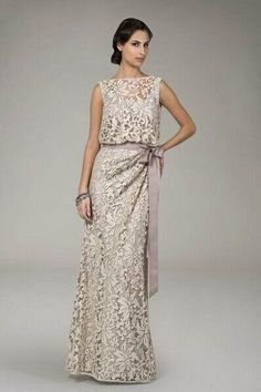 t Long Embroidered Lace Evening Dresses Lace Evening Dresses, Elegant Dresses, Pretty Dresses, Evening Gowns, Mother Of The Bride Dresses Long, Mothers Dresses, Mob Dresses, Bridesmaid Dresses, Lace Dresses