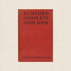 Rumford Complete Vintage Cookbook - 1945 Vintage Cookbooks, Noritake, Store Online, Copics, Kitchen Stuff, Vintage Kitchen, Count, Writing, Baking