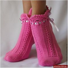 Crochet Socks, Knitted Slippers, Knitting Socks, Patterned Socks, Girls Socks, Slipper Boots, Happy Socks, Boot Cuffs, Leg Warmers