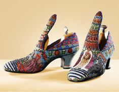 """Paul Poiret, """"Le Bal"""" embroidered shoes, 1924, by André Perugia."""