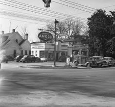 Amoco Gas Station, corner of Marion & Gervais Streets.