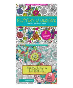 Look what I found on #zulily! Two-Piece Butterflies & Blooms Coloring Book Set #zulilyfinds