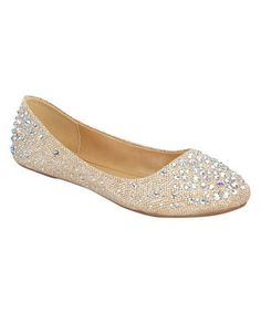 Champagne Larisa Flat by Forever Link Shoes #zulily #zulilyfinds