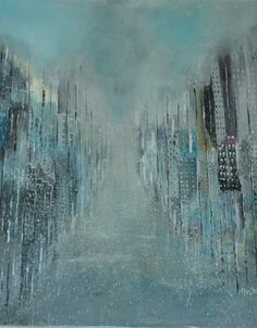 """Raining"" Acrylic on cancas by Maria Mendonça"