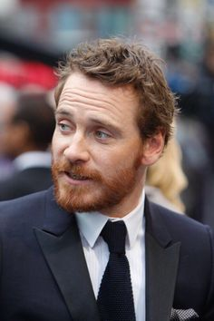 Michael Fassbender.  Look at that hair.