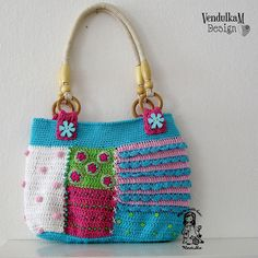 Patchwork crochet bag by Vendula Maderska / VendulkaM (scheduled via http://www.tailwindapp.com?utm_source=pinterest&utm_medium=twpin)