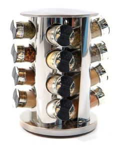 Spice Rack : 16 Glass Jar Bottle Rotating stainless Steel Spice Rack (with Spices) Spice Rack 102 http://www.amazon.co.uk/dp/B006UR0ALG/ref=cm_sw_r_pi_dp_2JqEub1FMB0QC