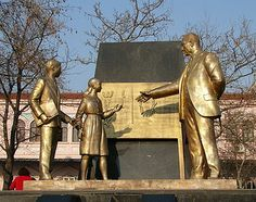 Ataturk teaching the children of Turkey the Latin alphabet, a statue in Istanbul.World Teachers' Day, held annually on October 5th since 1994, commemorates teachers' organizations worldwide. Its aim is to mobilize support for teachers and to ensure that the needs of future generations will continue to be met by teachers.