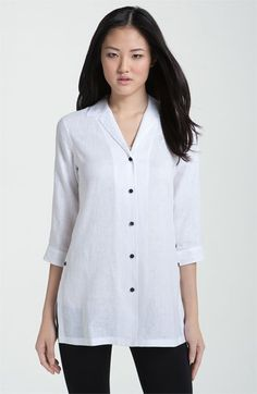 Foxcroft Solid Linen Shirt - linen is my very favorite fabric