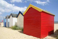 Beach Huts Southwold by freefotouk