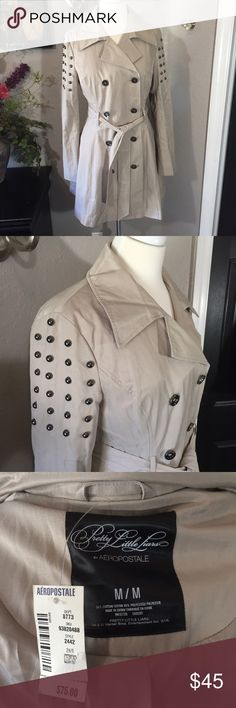 "Aeropostale Pretty Little Liars Trench Coat Sz M Brand-new with tag. Very soft nice weight. Shell: 54% cotton, 46% polyester Lining: 100% polyester Bust - 36"" Length - 33"" Aeropostale Jackets & Coats Trench Coats"