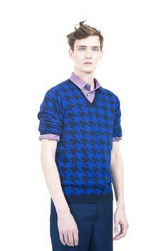 [No.8/16] Raf Simons × Fred Perry 2013春夏コレクション | Fashionsnap.com  Love his shirt!