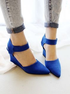 Suede Pointed Heeled Shoes   Choies