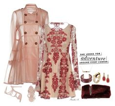 """Blush Trench"" by freida-adams ❤ liked on Polyvore featuring RED Valentino, For Love & Lemons, Ermanno Scervino, Marni, Ann Demeulemeester, Lily Kamper, Undercover and Kate Spade"