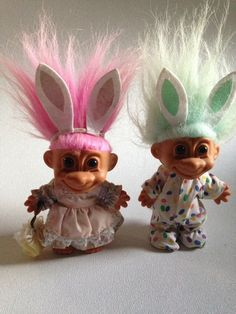 "2/"" Russ Troll Doll NEW IN ORIGINAL BAG EASTER STANDING BABY BUNNY"