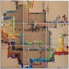 LAURIE FRICK- Experiments in self tracking. Collage patterns captured from daily walks.