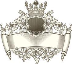 Baroque emblem Royalty Free Stock Vector Art Illustration