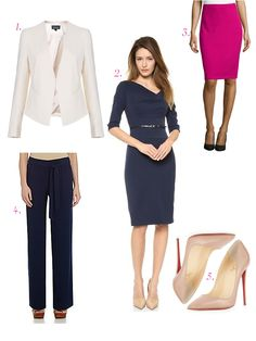 clothes to look taller business casual for women